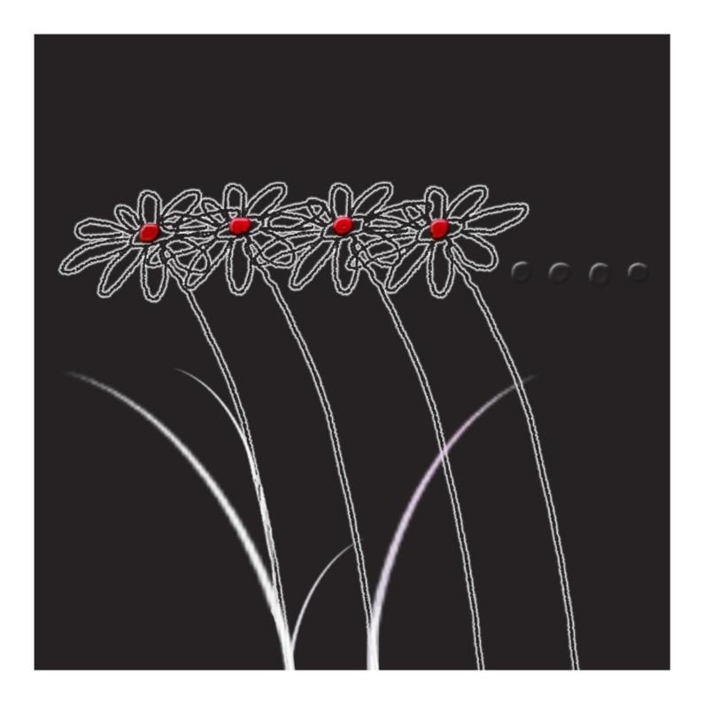 Rouwkaarten - 4 bloempjes