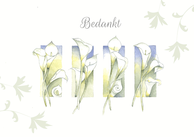 Rouwkaarten - Bedankt bloemenrouwkaart