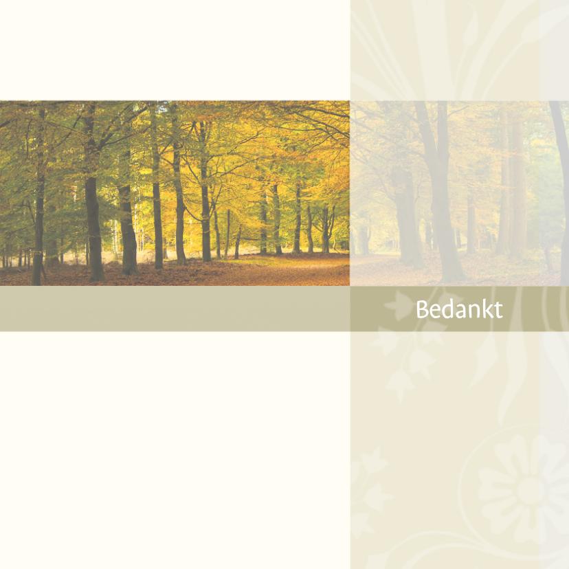 Rouwkaarten - bedankt met bos