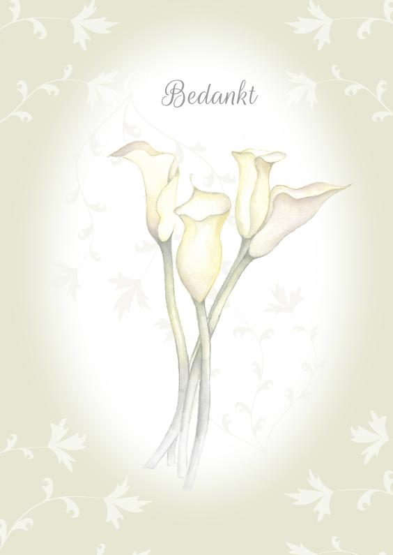Rouwkaarten - Bedankt rouwkaart bloemen