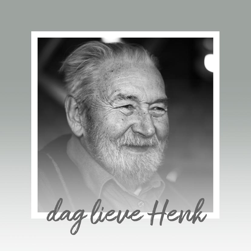 Rouwkaarten - Condoleance - rouwkaart foto + waas