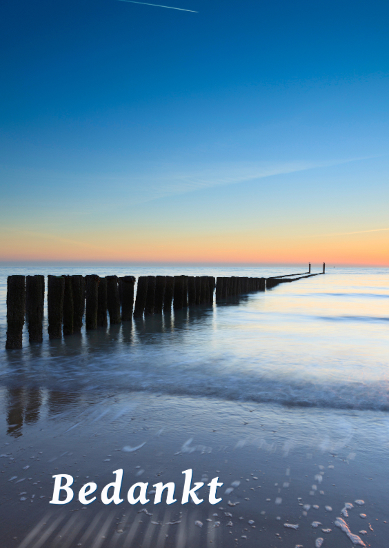 Rouwkaarten - Golfbreker langs de Zeeuwse kust