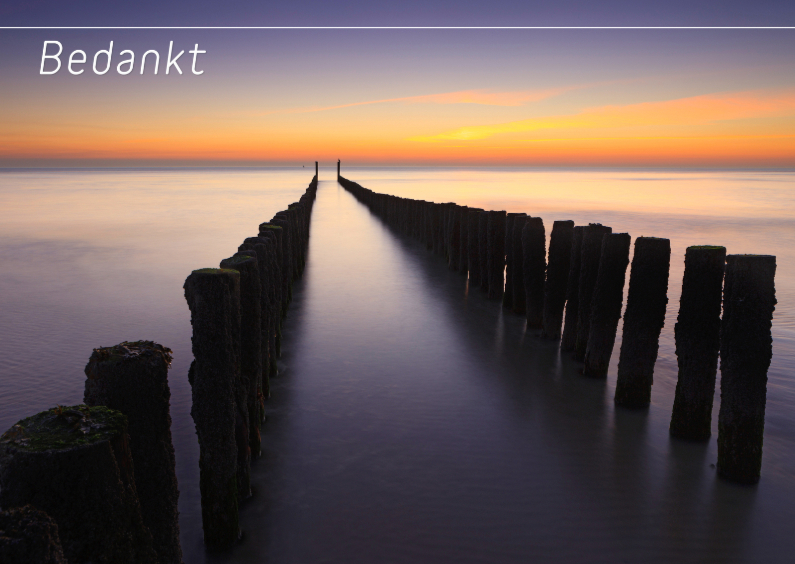 Rouwkaarten - Langs de kust