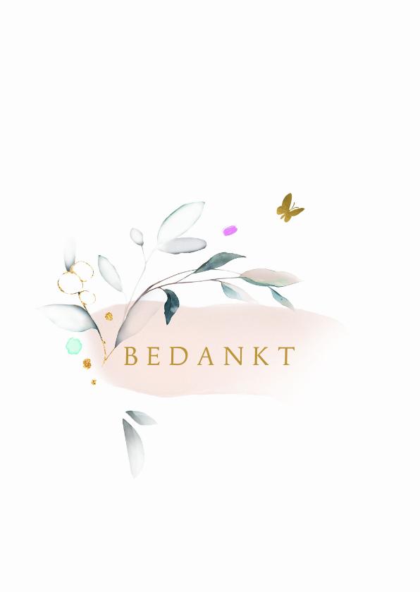 Rouwkaarten - Liefdevolle dankbetuiging overlijden met bloesems