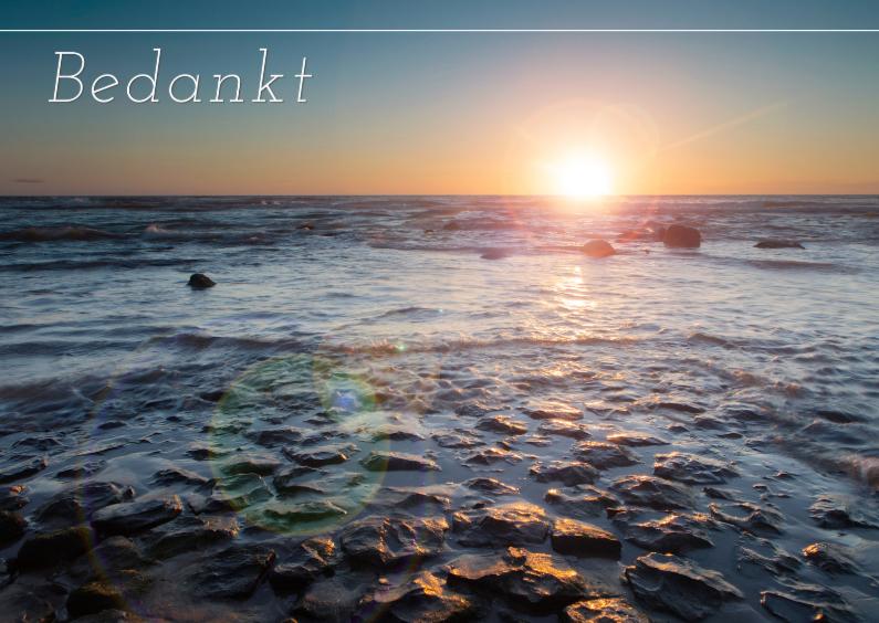 Rouwkaarten - Noordzee