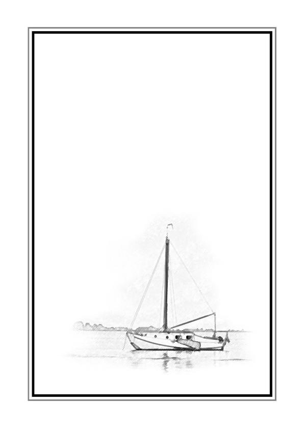 Rouwkaarten - Rouw Bedankt - illustratie schip