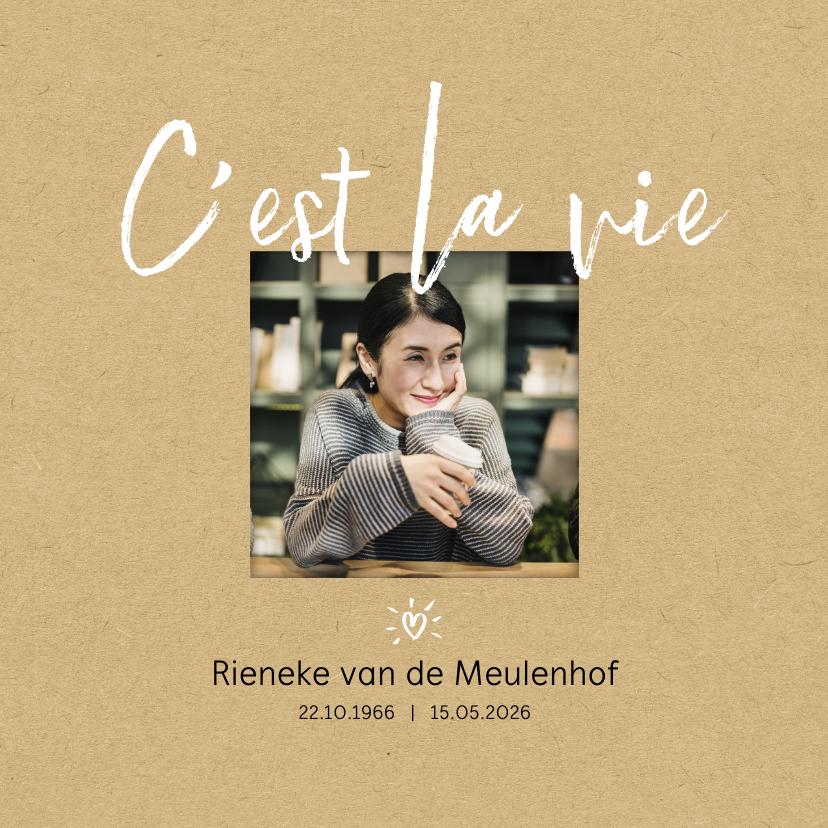 Rouwkaarten - Rouw C'est la vie