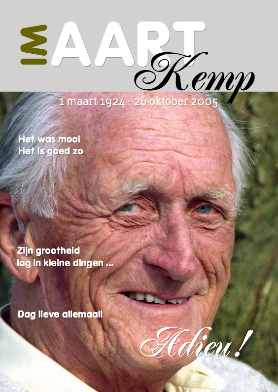 Rouwkaarten - Rouwkaart Eigen foto Cover Magazine