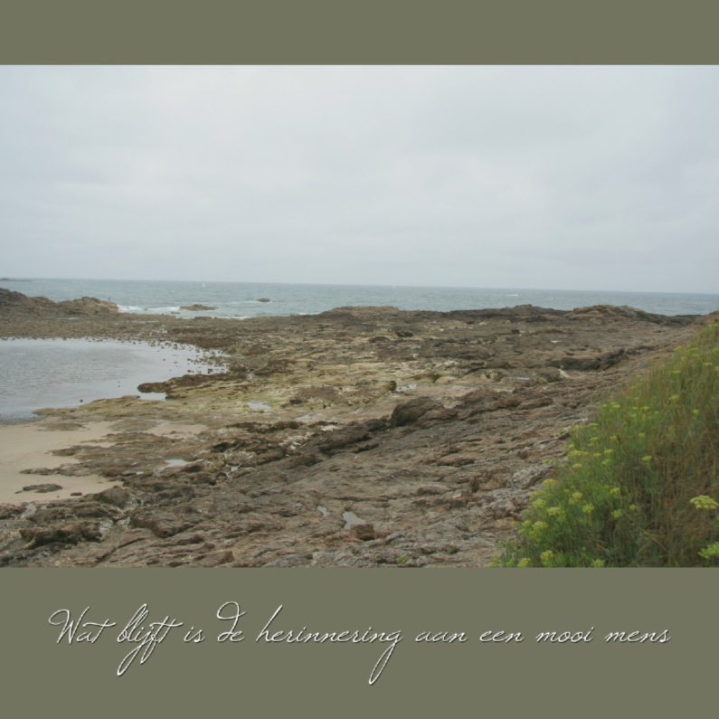 Rouwkaarten - rouwkaart grillig strand herinnering