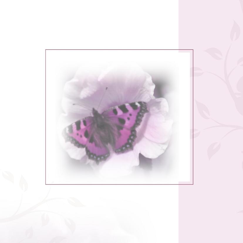 Rouwkaarten - rouwkaart met mooie vlinder