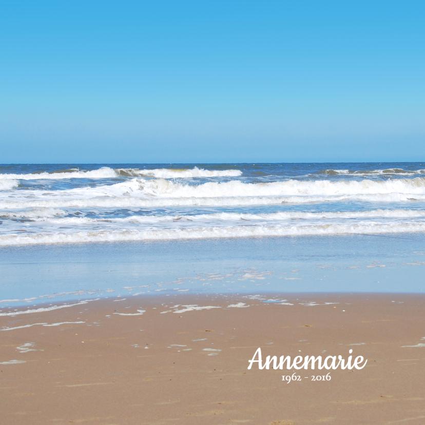 Rouwkaarten - Rouwkaart Noordzee strand