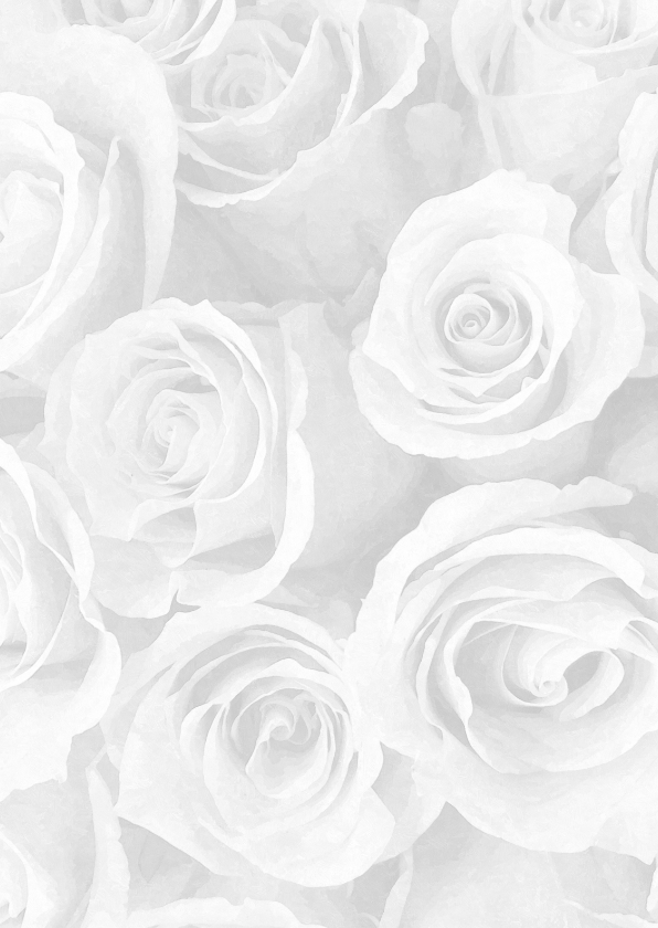 Rouwkaarten - Rouwkaart olieverf rozen