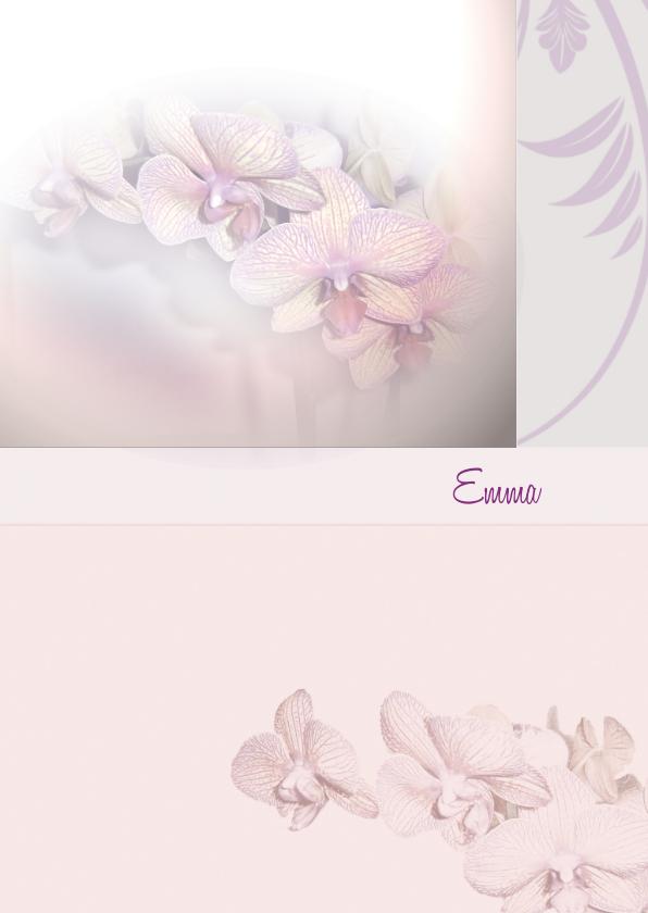 Rouwkaarten - Rouwkaart orchideebloem