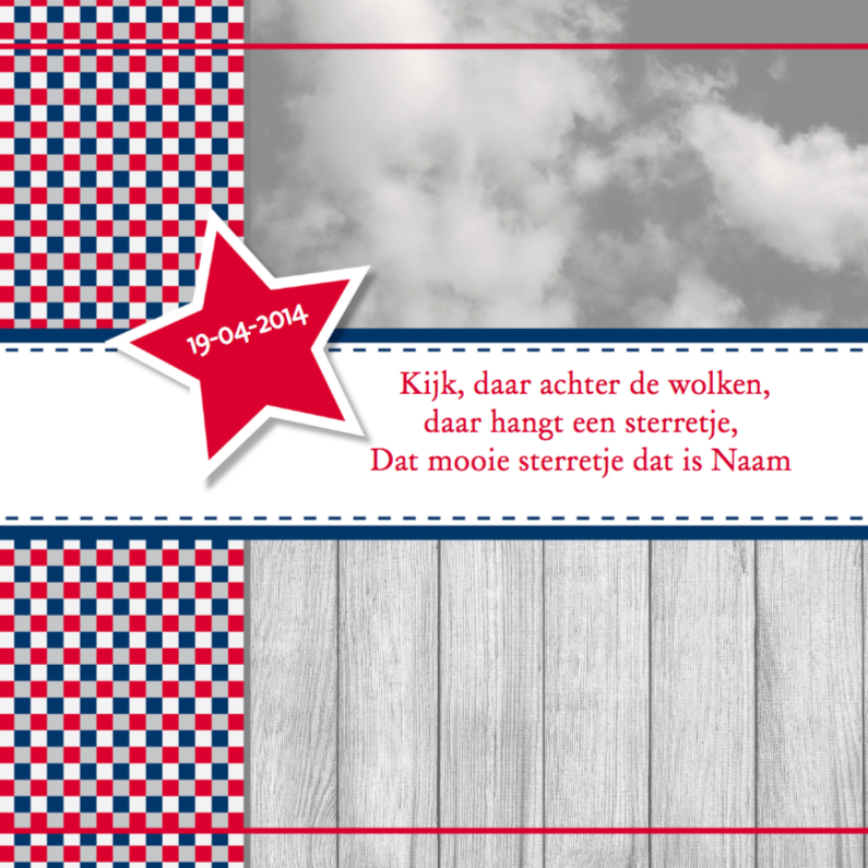 Rouwkaarten - Rouwkaart Reitsma blauw