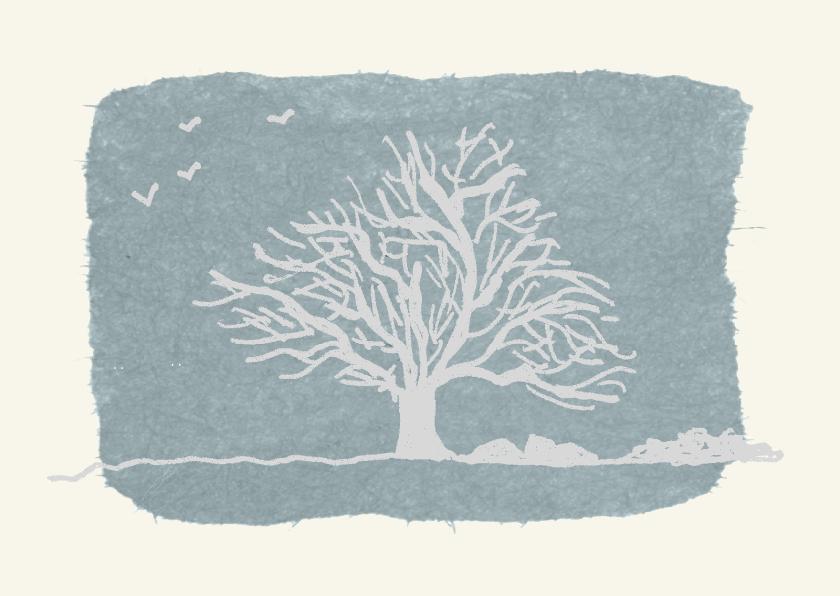 Rouwkaarten - Rouwkaart rouwboom