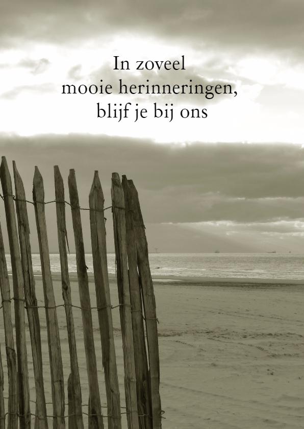 Rouwkaarten - Rouwkaart Verlaten strand - SK