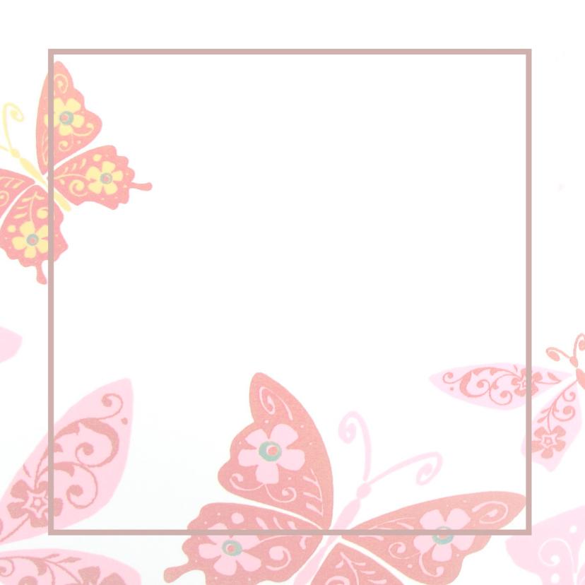 Rouwkaarten - Rouwkaart vlinders