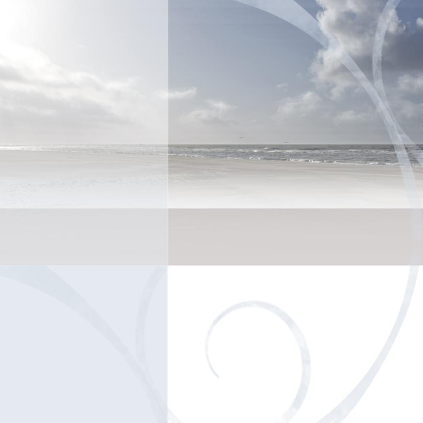 Rouwkaarten - Rouwkaart zee blauw