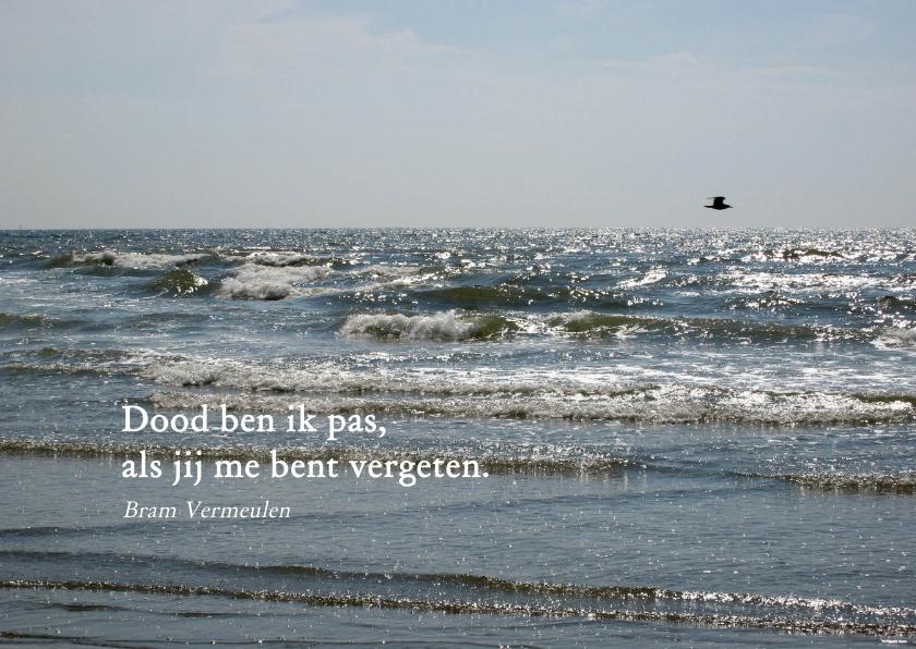 Rouwkaarten - rouwkaart zee en vogel