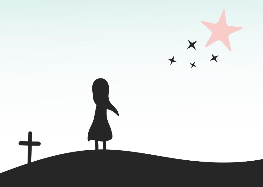 Rouwkaarten - Wakende ster