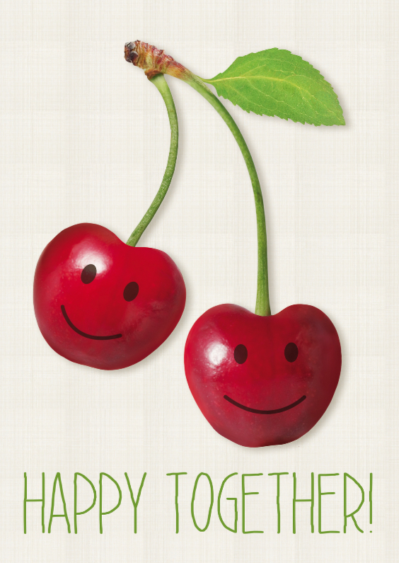 Samenwonen kaarten - Cherry Happy together