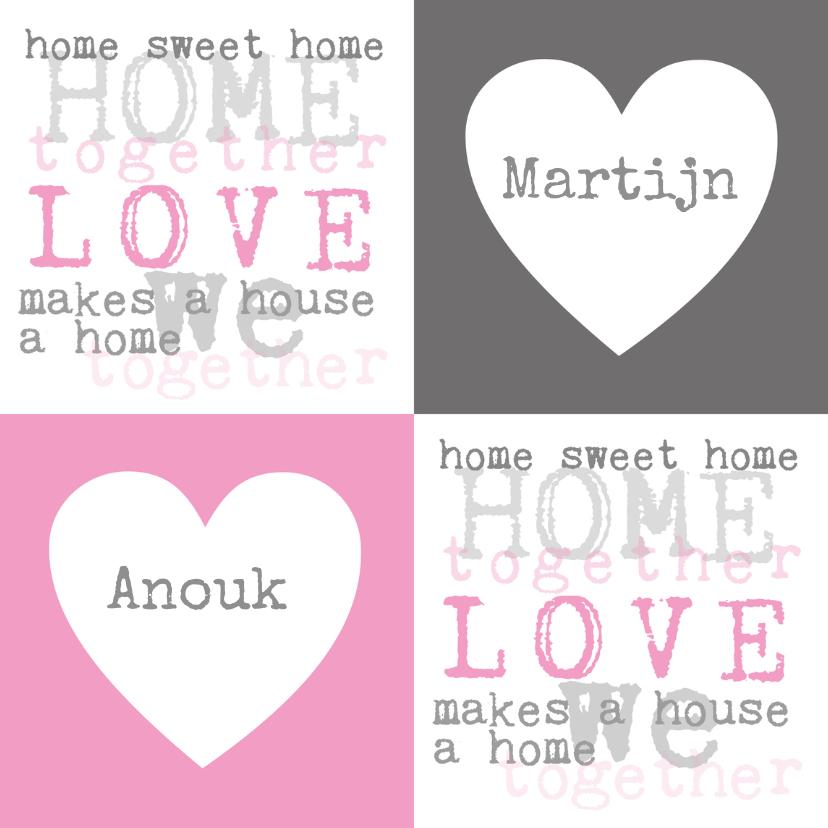 Samenwonen kaarten - Home Sweet Home Samenwonen