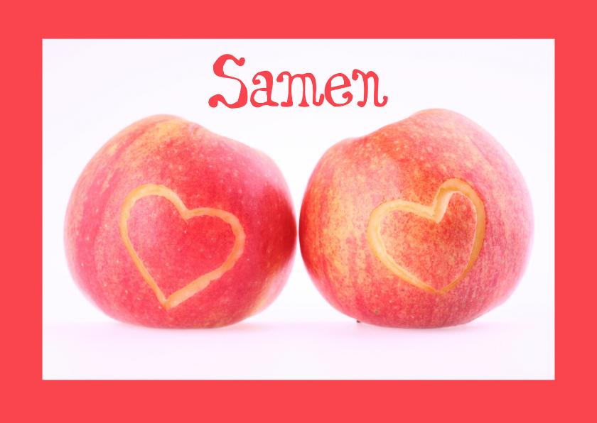 Samenwonen kaarten - Samen appel