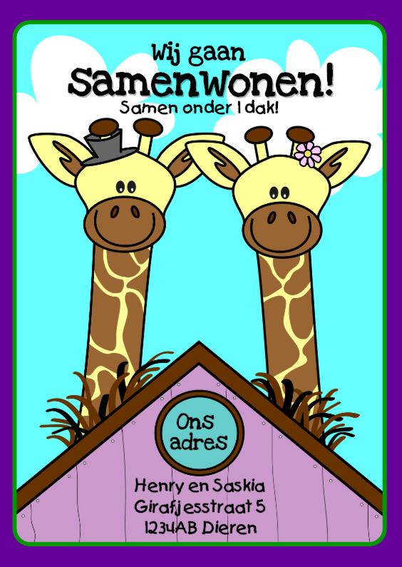 Samenwonen kaarten - Samenwonen giraffes
