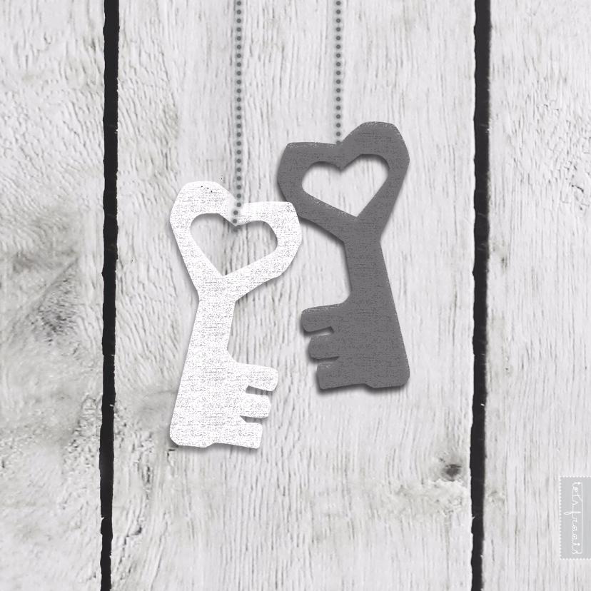 Samenwonen kaarten - Samenwonen hart sleutels