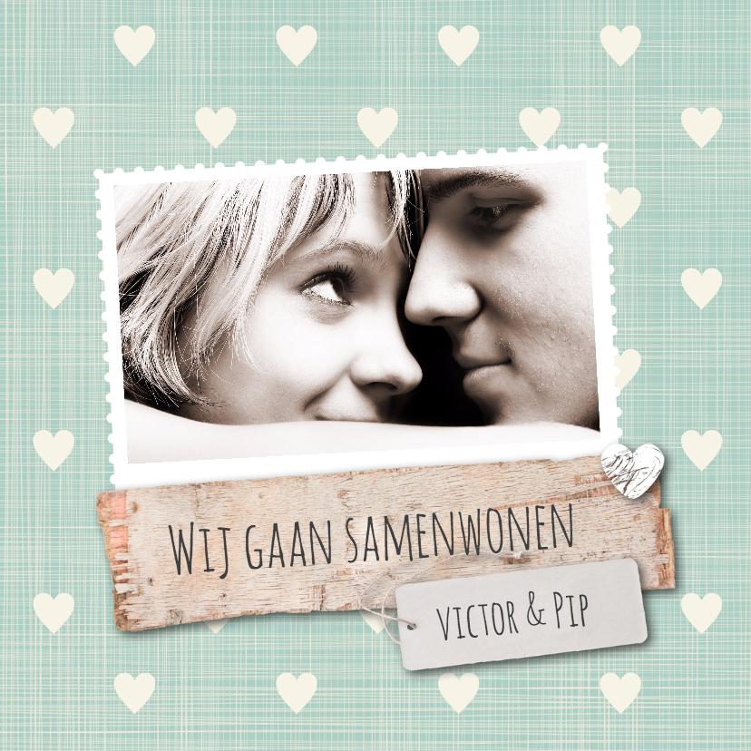 Samenwonen kaarten - Samenwonen-hartjes-VictorPip-SK