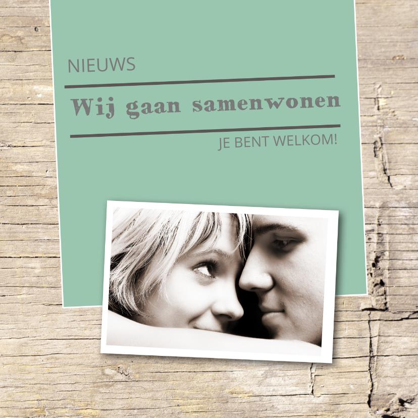 Samenwonen kaarten - Samenwonen Jesper en Anne