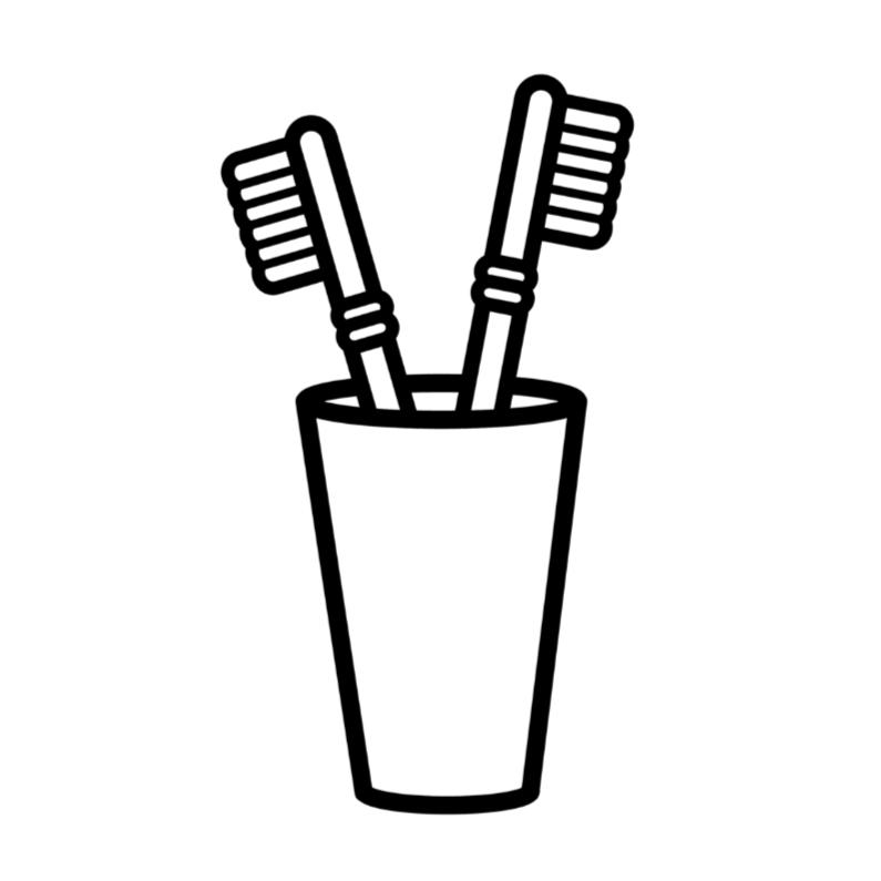 Samenwonen kaarten - Tandenborstels Samenwonen kaart