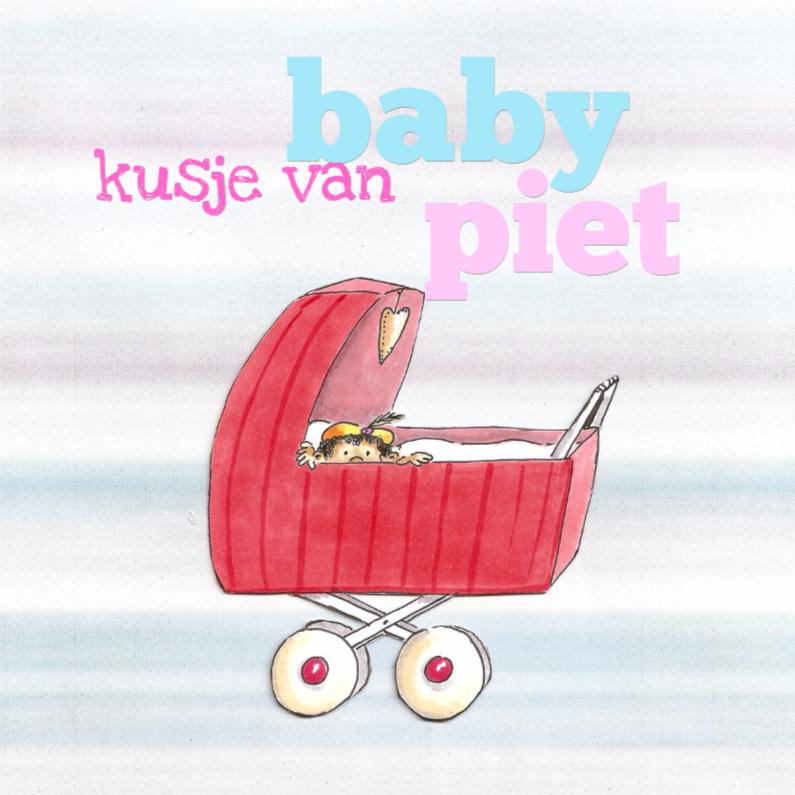 Sinterklaaskaarten - Baby piet in kinderwagen II