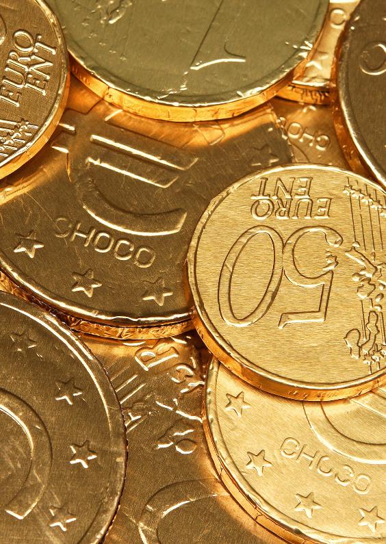 Sinterklaaskaarten - Chocolade euro munten Sint - OT