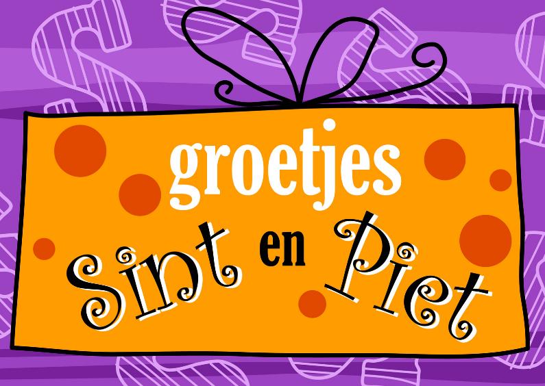 Sinterklaaskaarten - Groetjes Sint en Piet LH
