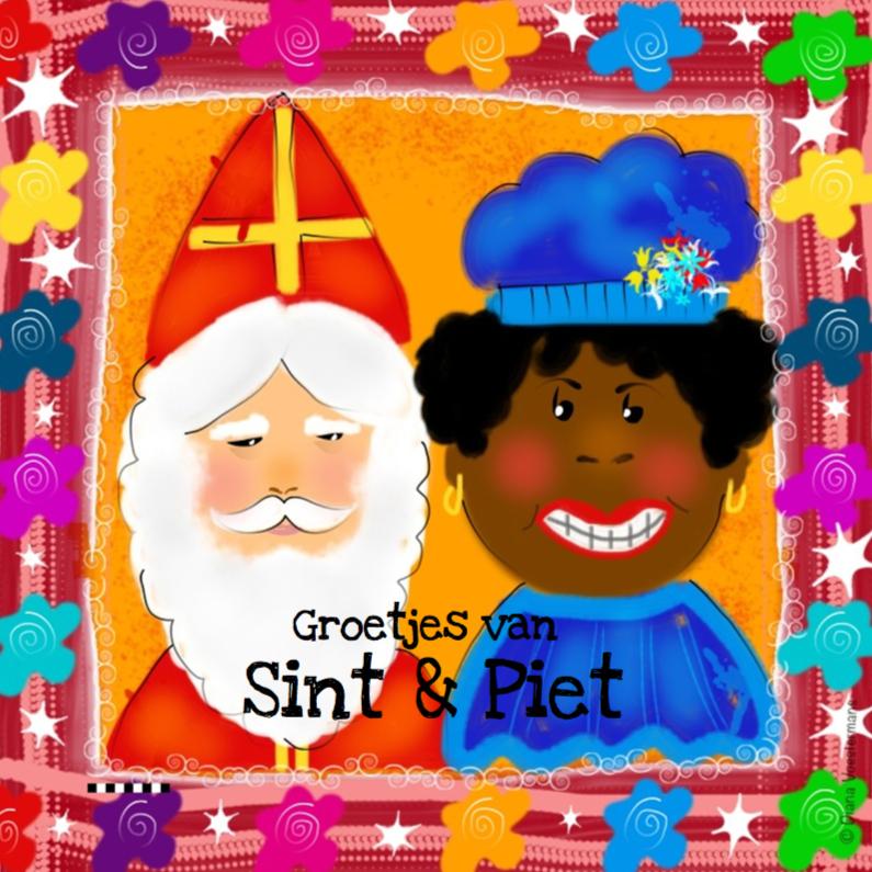 Sinterklaaskaarten - Groetjes Sint en Piet