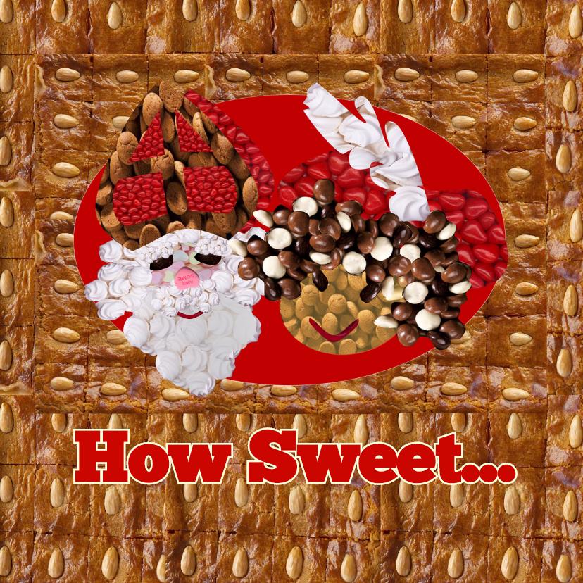 Sinterklaaskaarten - How sweet Sint en Piet - AW