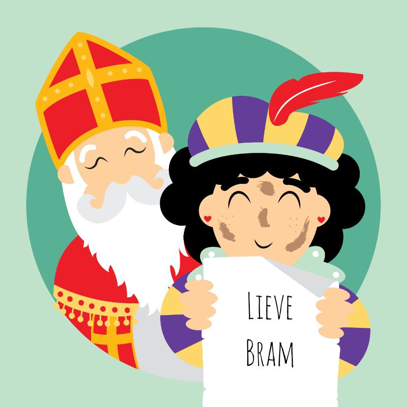 Sinterklaaskaarten - Sint en Piet hebben een gedicht geschreven