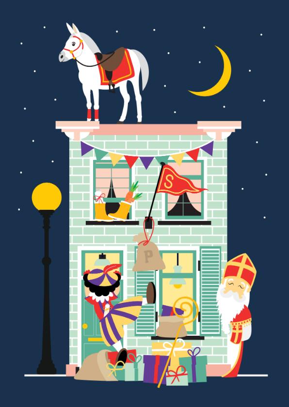 Sinterklaaskaarten - Sint en Piet komen bij je langs!