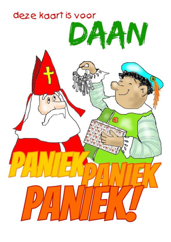 Sinterklaaskaarten - Sint en Piet met sleutels