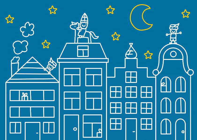 Sinterklaaskaarten - Sint huisjes