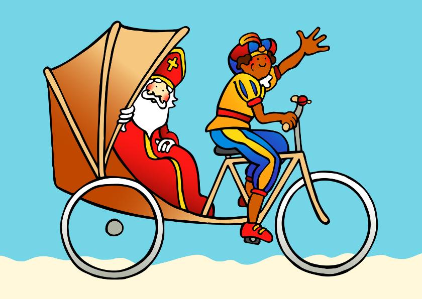 Sinterklaaskaarten - Sint in riksja