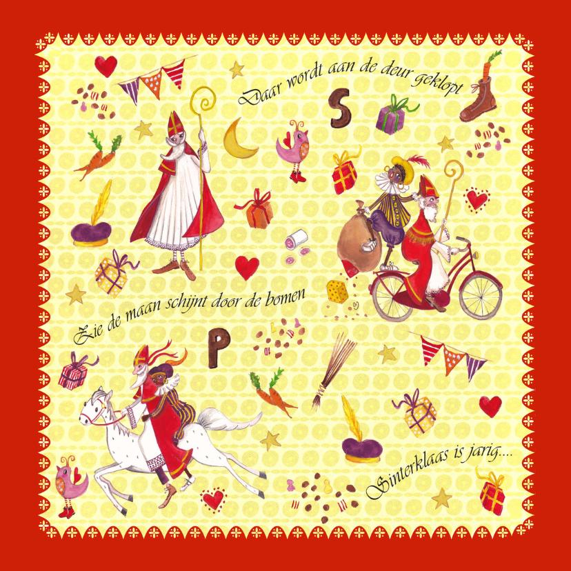 Sinterklaaskaarten - Sinterklaas 5 december Cartita Design