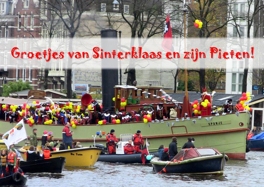 Sinterklaaskaarten - Sinterklaas Amsterdam intocht