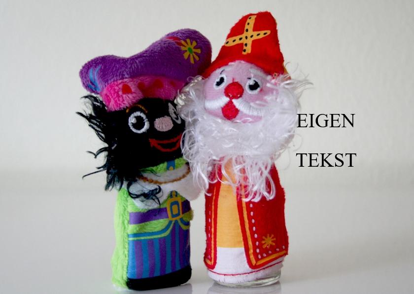 Sinterklaaskaarten - Sinterklaas en zwarte Piet