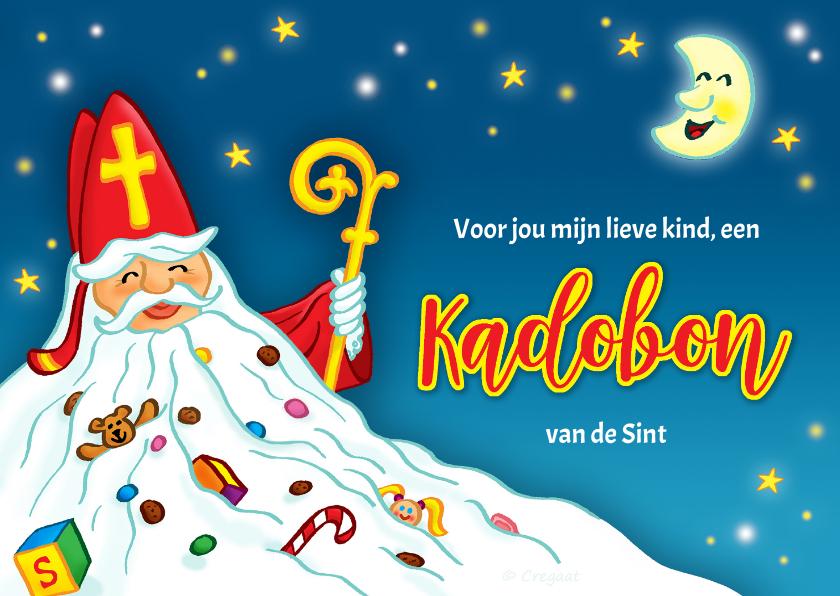 Sinterklaaskaarten - Sinterklaas met baard kadobon