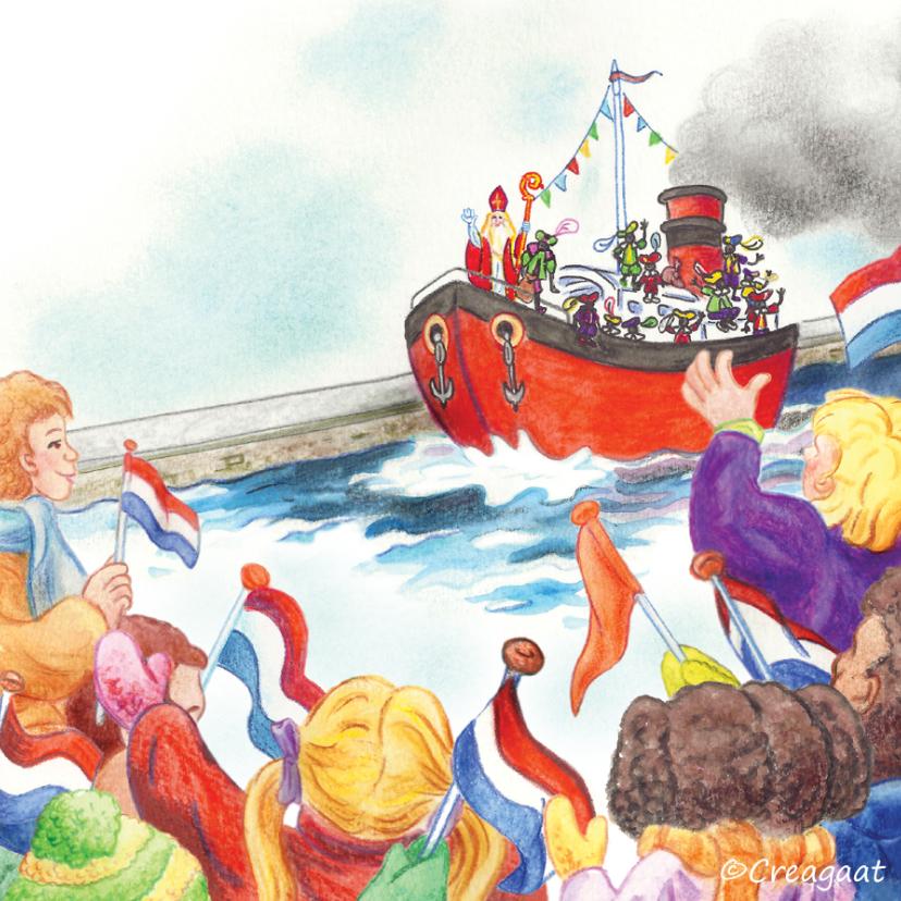 Sinterklaaskaarten - Sinterklaas nostalgische boot
