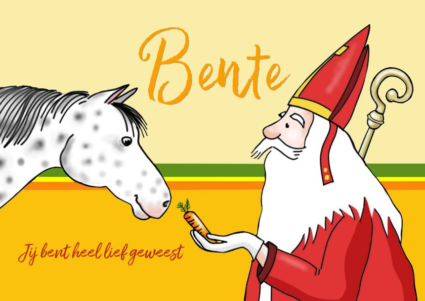 Sinterklaaskaarten - Sinterklaas - Sint en zijn paardje Ozosnel