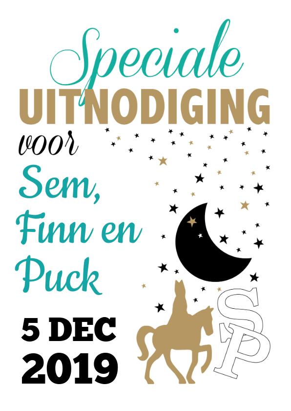 Sinterklaaskaarten - Sinterklaas uitnodiging voor pakjesavond