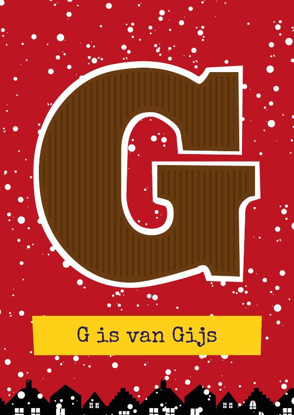 Sinterklaaskaarten - Sinterklaaskaar choco G